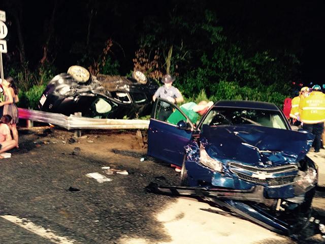 Route 141 crash scene main