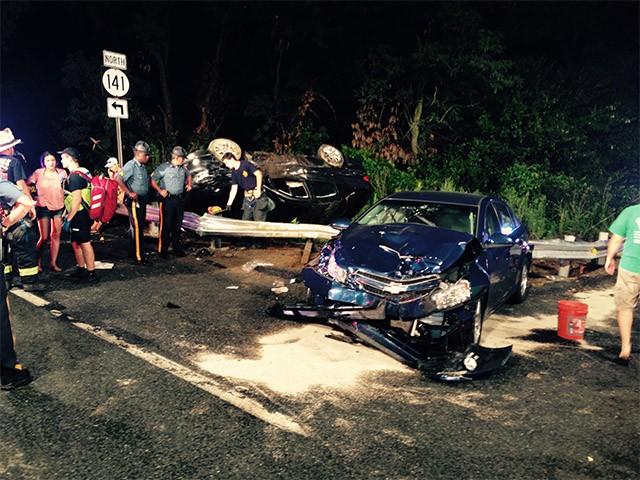 Route 141 crash scene