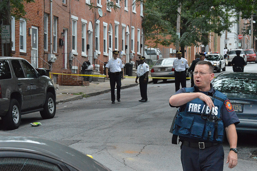 Shooting scene at Sixth and Madison streets in Wilmington (Photo: Delaware Free    News)