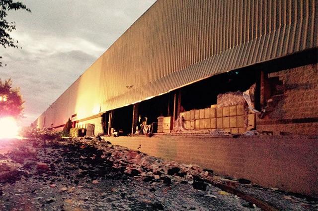 Storm Dock View Drive building damage