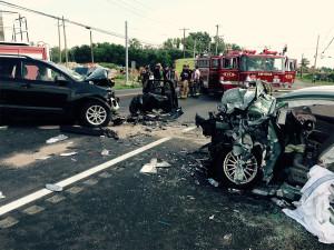 Scene of fatal crash on Summit Bridge Road north of Marl Pit Road (Photo: Delaware Free News)