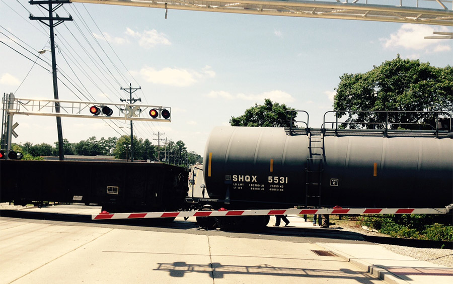 Derailed train blocked Lancaster Pike for hours (Photo: Delaware Free Press)