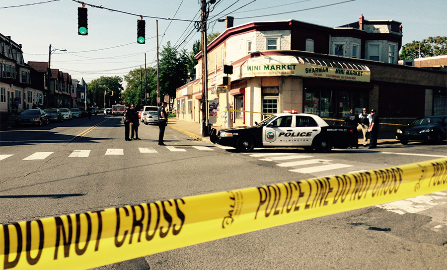One victim was found inside Sharman Mini Market at Concord Avenue and Washington Street. (Photo: Delasare Free News)