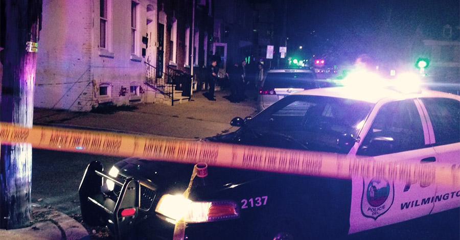 Police investigate shooting in the 100 block of N. Van Buren St. in Wilmington. (Photo: Delaware Free News)
