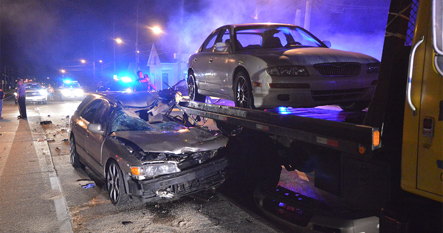 Accident scene on Route 9 north of New Castle (Photo: Delaware Free News)