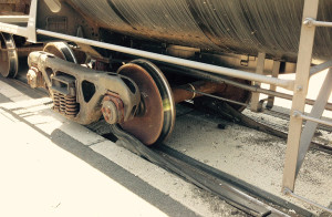 Damaged track at train derailment on Lancaster Pike (Photo: Delaware Free News)