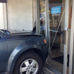Damaged door at Delaware Open MRI office (Photo: Delaware Free News)