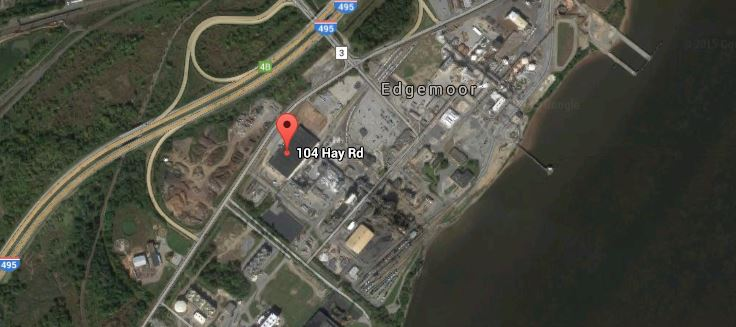 The Chemours Edge Moor plant is at 104 Hay Road, off Interstate 495 and along the Delaware River. (Photo: Google maps)