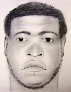 Sketch of home invasion suspect released by New Castle County police