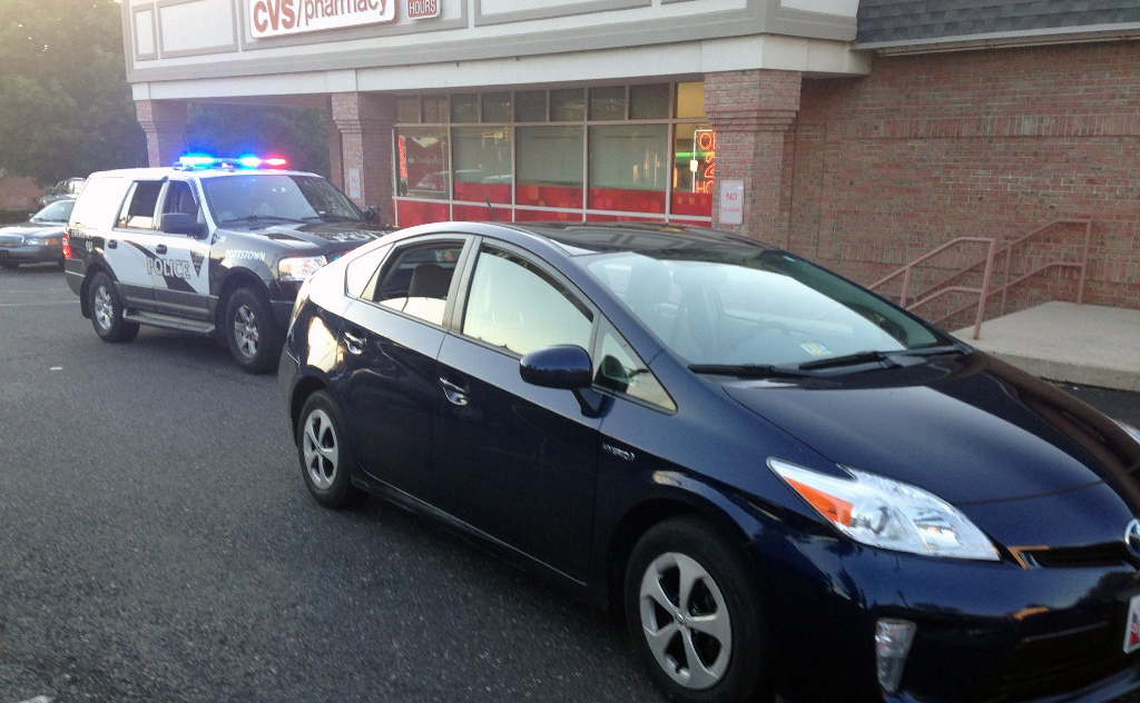 Prius carjacked in Rehoboth Beach was recovered by police in Pottstown, Pennsylvania. (Photo: Rehoboth Beach police)