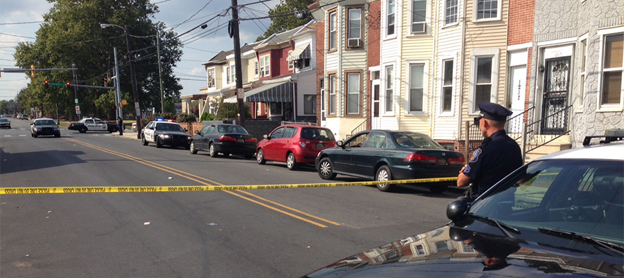 Police investigate shooting in 1200 block of Vandever Ave. in Wilmington. (Photo: Delaware Free News)