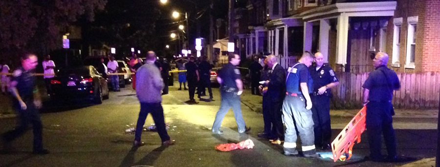 Shooting scene at 234d and Lamotte streets in Wilmington (Photo: Delaware Free News)