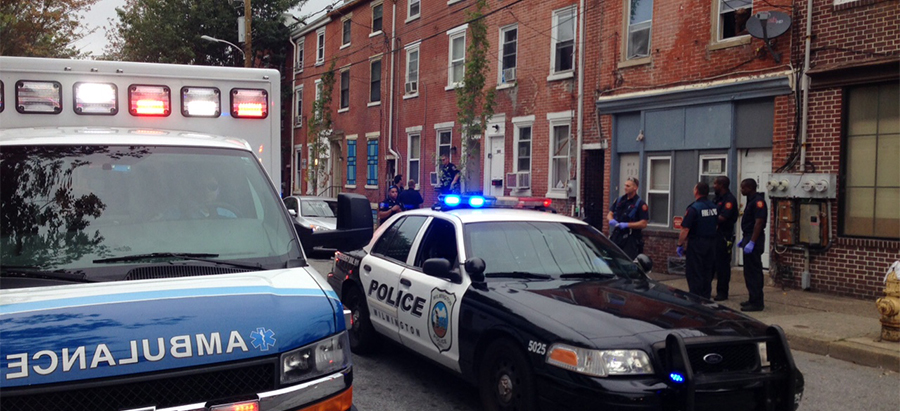 Police investigate stabbing in 500 block of W. Seventh St., Wilmington (Photo: Delaware Free News)