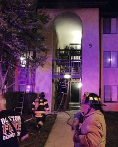 Fire scene on Bedford Lane near New Castle (Photo: Delaware Free News)