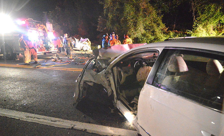 Crash scene on New Linden Hill Road (Photo: Delaware Free News)