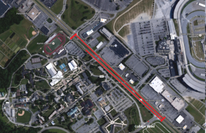 Dover police released this satellite image showing area closed on U.S. 13.
