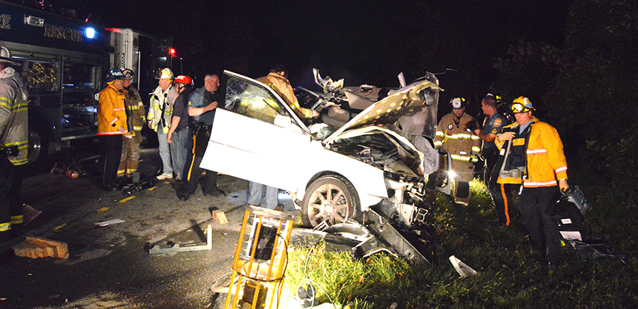 Scene of fatal crash on New Linden Hill Road. (Photo: Delaware Free News)
