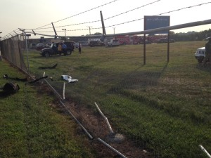 Crash scene at New Castle Airport (Photo: Delaware Free News)