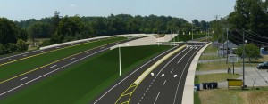DelDOT view of new Route 1 overpass planned for Little Heaven, which will eliminate a traffic signal on the expressway.