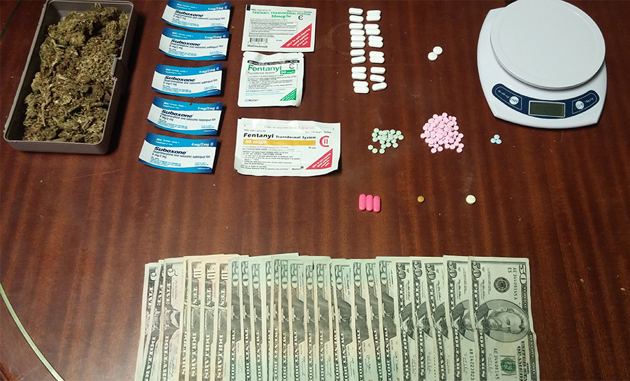 Items seized by police in 300 block of Mansion Road. (Photo: Elsmere Police Department)
