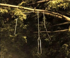 Apparent nooses found on UD campus were ;ater determined to be remnants of hanging lanterns. (Photo: Doug Dimmadome via Twitter)