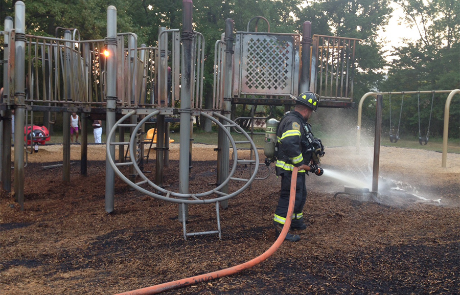 Fire caused $60,000 damage at Simonds Garden Park. (Photo: Delaware Free News)