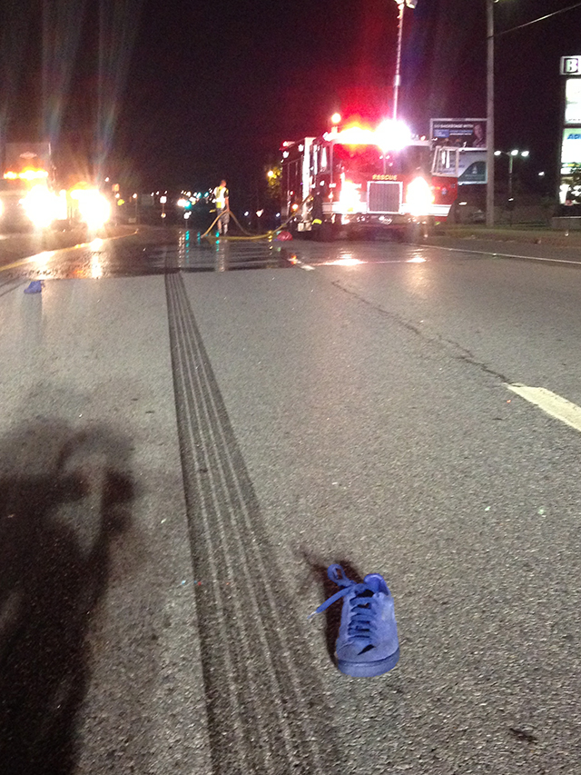 Scene of fatal pedestrian accident on Route 141 (Photo: Delaware Free News)