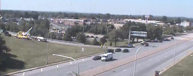 DelDOT traffic cam view of accident scene.