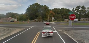 Police said truck went from Route 5 across all lanes of Route 1 before crashing into tree stumps and large tree at Brumbley's Family Park property. (Photo: Google maps)