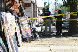 Shooting scene in 500 block of E. Ninth St. in Wilmington (Photo: Delaware Free News)