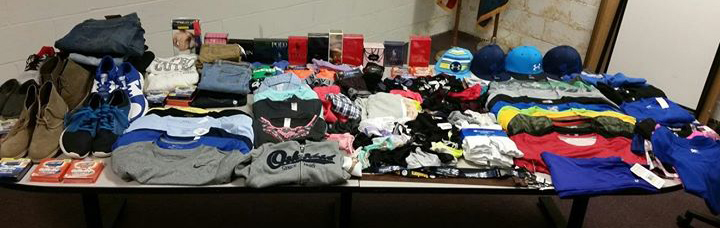 Merchandise seized by police. (Photo: Delaware State Police)