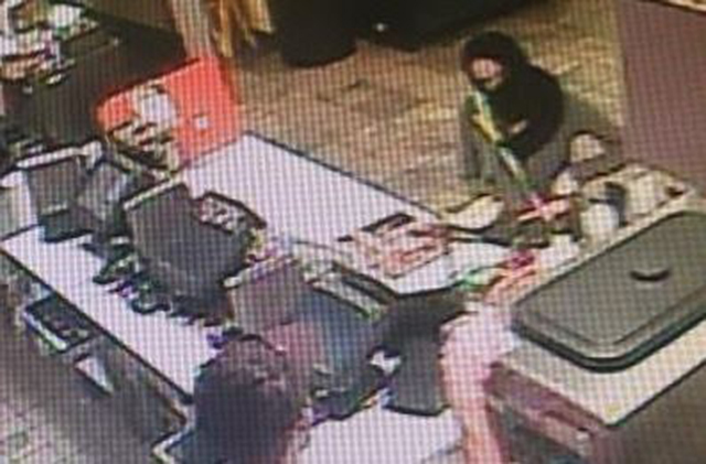 Surveillance image from robbery at Subway, 19470 Coastal Highway (Route 1) near Rehoboth Beach.