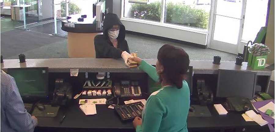 Surveillance image from TD Bank robbery released by Delaware State Police