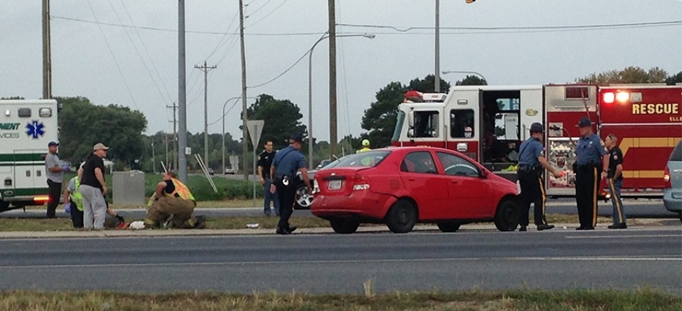 Crash scene on U.S. 113 (Photo: Delaware Free News)