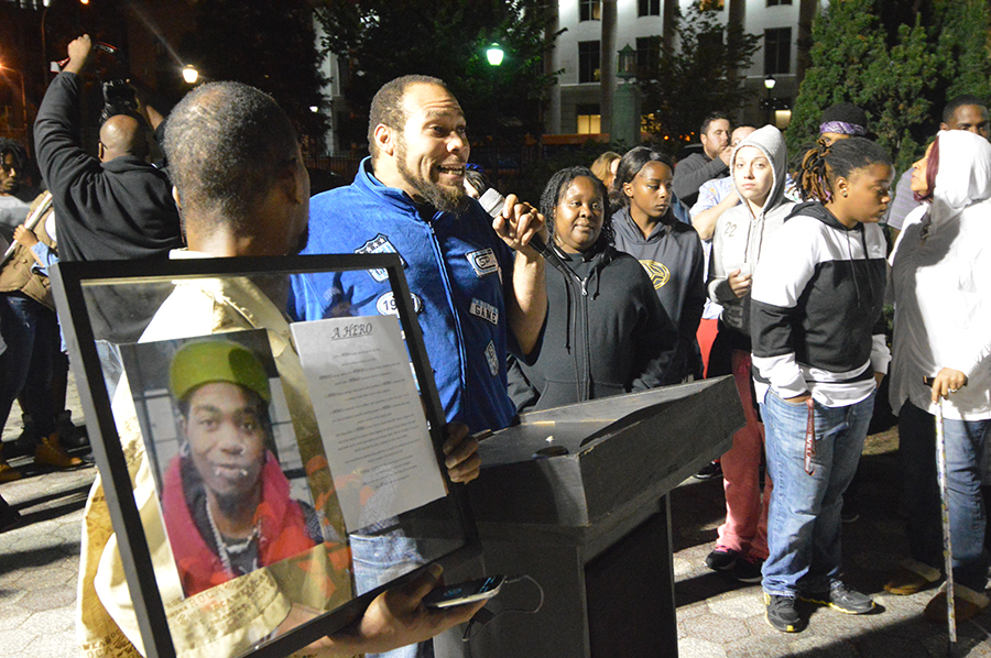Vigil on Rodney Square was held a week after Thomas Cottingham was stabbed to death. (Photo: Delaware Free News)