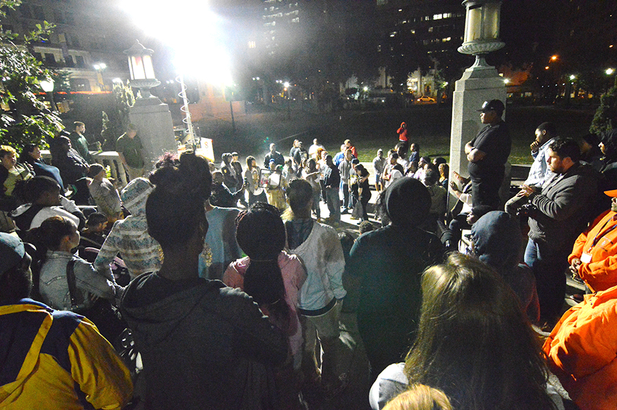 Vigil on Rodney Square was held a week after slaying of Thomas Cottingham. (Photo: Delaware Free News)