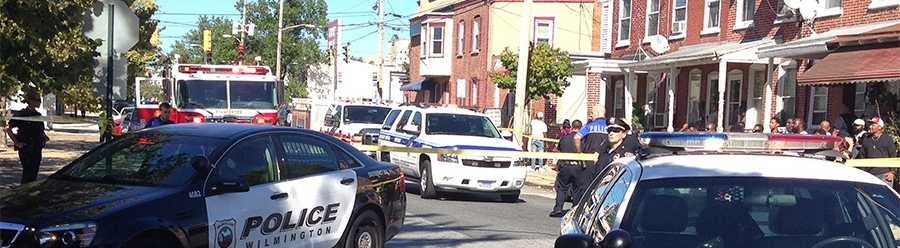Scene of fatal police shooting at Scott and Tulip streets in Wilmington (Photo: Delaware Free News)