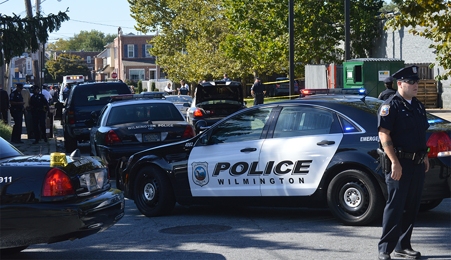 Scene of fatal police shooting near Scott and Tulip streets in Wilmington. (Photo: Delaware Free News)
