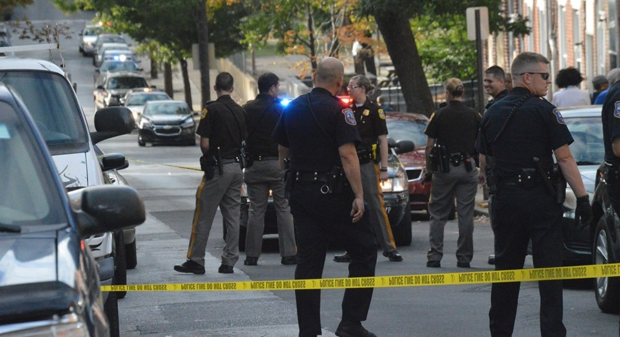 Shooting scene on Jefferson Street in Wilmington (Photo: Delaware Free News)