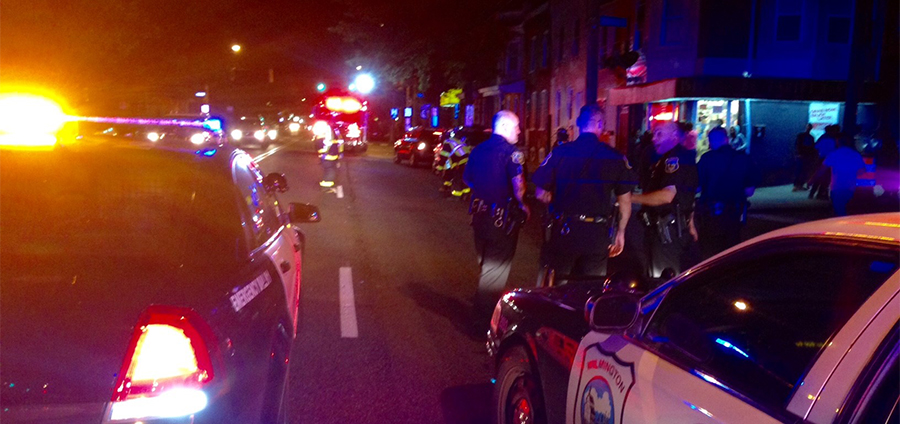 Accident scene at Fourth and Delamore in Wilmington (Photo: Delaware Free News)