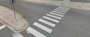Pedestrian crosswalk, Philadelphia Pike and Naamans Road in Claymont (Photo: Google maps)