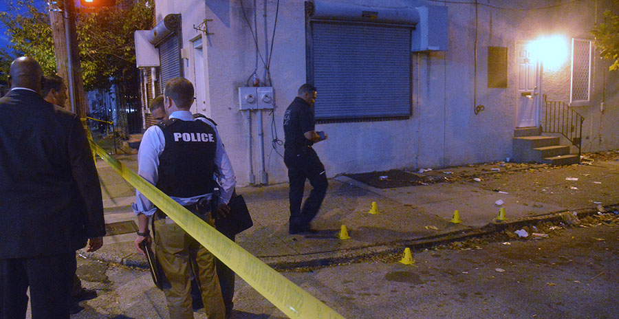 Shooting scene on Bennett Street in Wilmington (Photo: Delaware Free News)