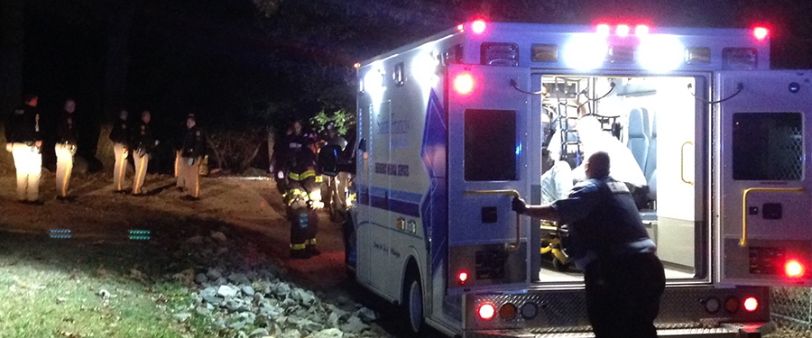 Canby Park shooting victim was taken by ambulance. (Photo: Delaware Free News)