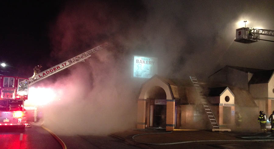 Fire heavily damaged Serpe's Bakery at 1411 Kirkwood Highway in Elsmere. (Photo: Delaware Free News)