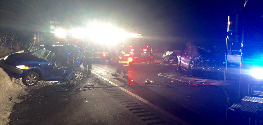 Accident scene on I-95 at Churchmans Road. (Photo: Delaware Free News)