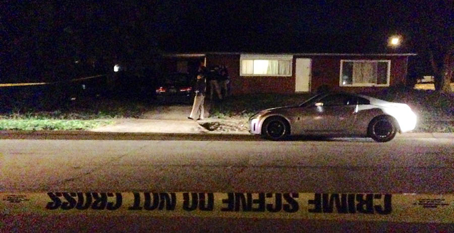 New Castle County police were investigating shooting during home invasion on Mercer Drive in Brookside.