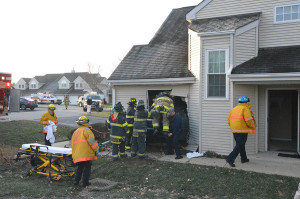 Car struck home on Colefax Court in Village of Hershey Run community. (Photo: Delaware Free News)