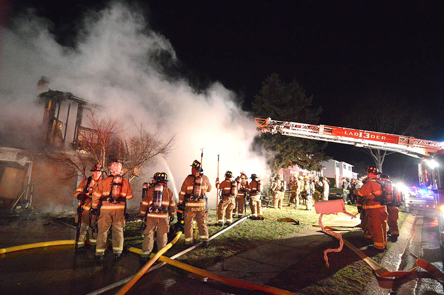 Firefighters from Delaware and Pennsylvania battled flames on Abington Road in Dartmouth Woods. (Photo: Delaware Free News)