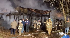 Fire destroyed farm building near Harbeson. (Photo: Indian River Volunteer Fire Company)