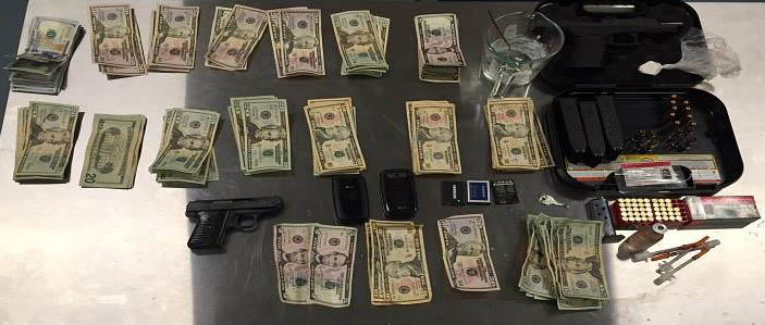 State police released this photo of items seized from home on Central Drive near Felton.